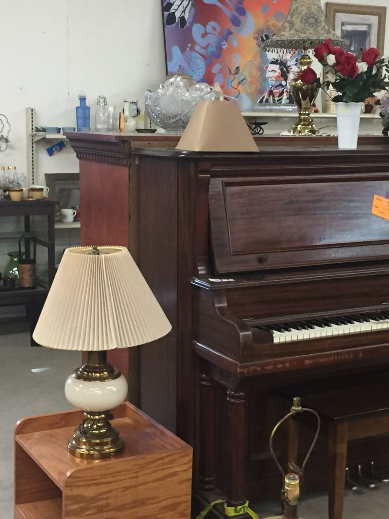 Piano for sale at the St. Vincent de Paul Thrift Store in Bakersfield, CA
