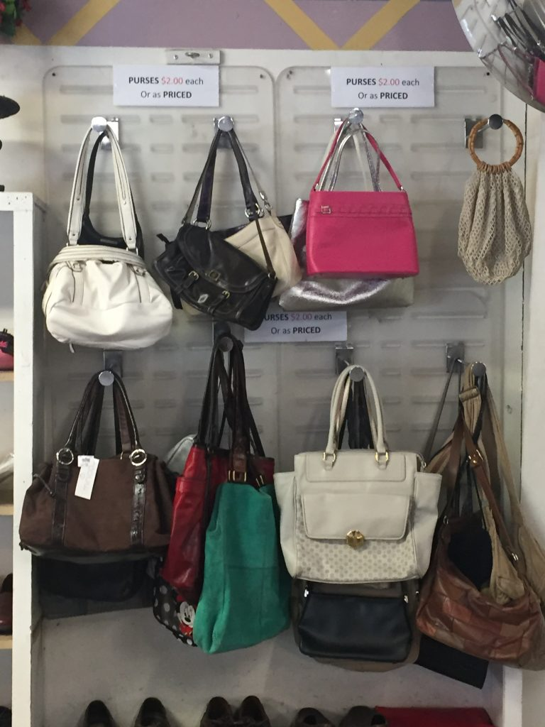 Bags at thrift store